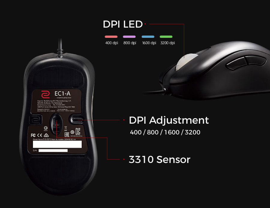 BenQ ZOWIE EC1-A Esports Gaming Mouse (Large)