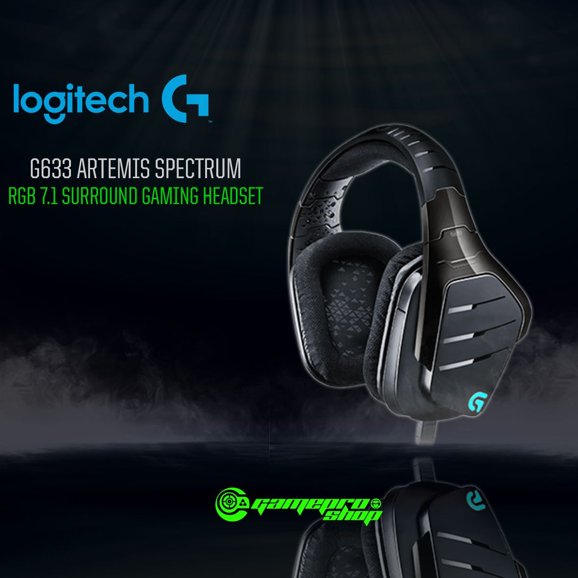 Logitech G633 (981-000606) Artemis Fire 7 1 Surround Sound Gaming Headset