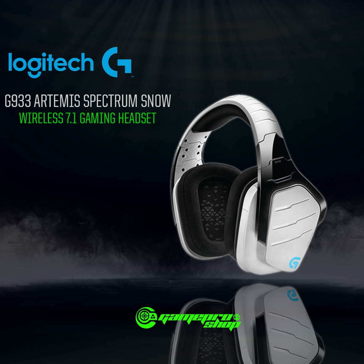 Logitech G933 Artemis Spectrum Snow Wireless 7 1 Surround Sound Gaming  Headset (981-000622)