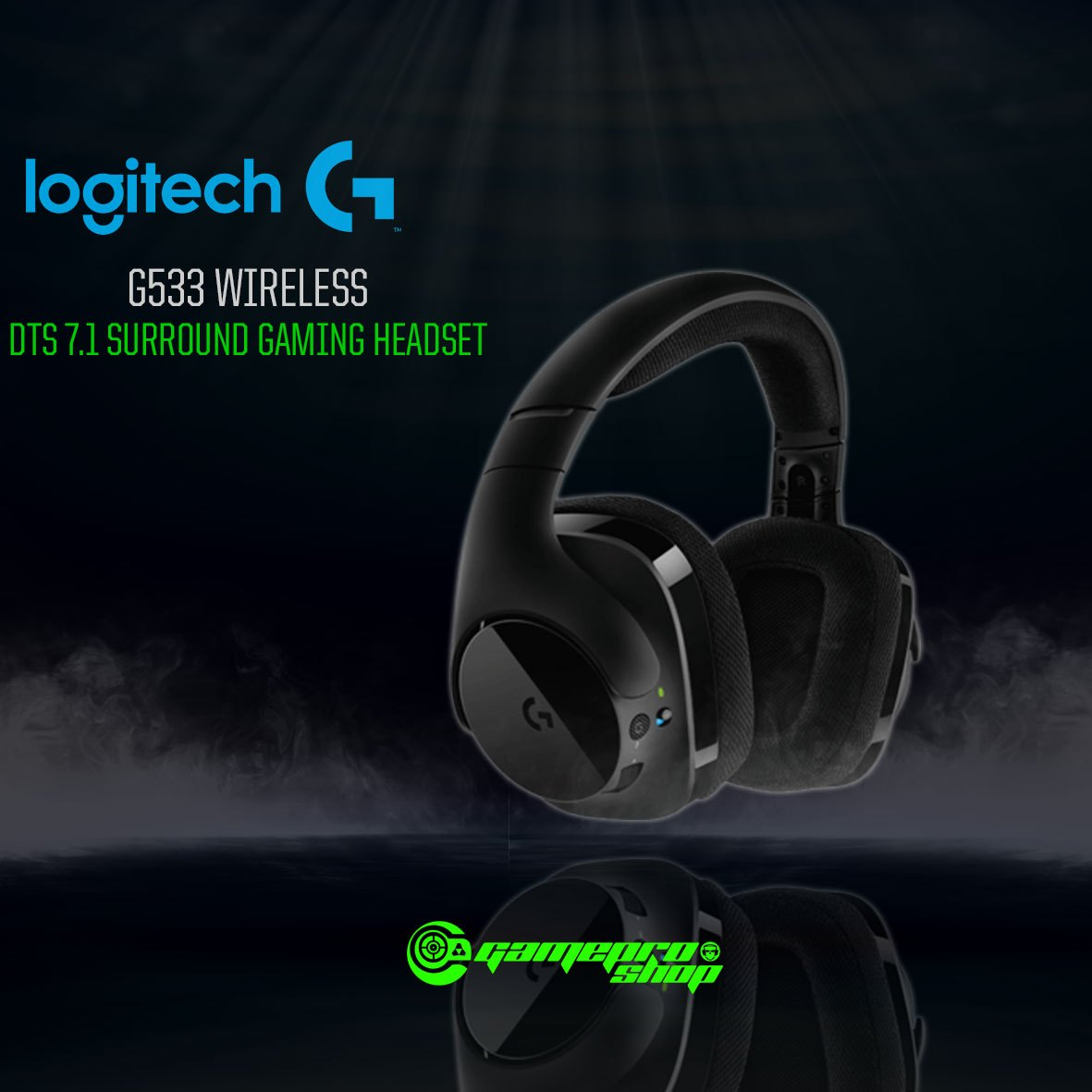 0f32957dc8a Logitech G533 (981-000636) Wireless Gaming Headset 7.1 Surround ...
