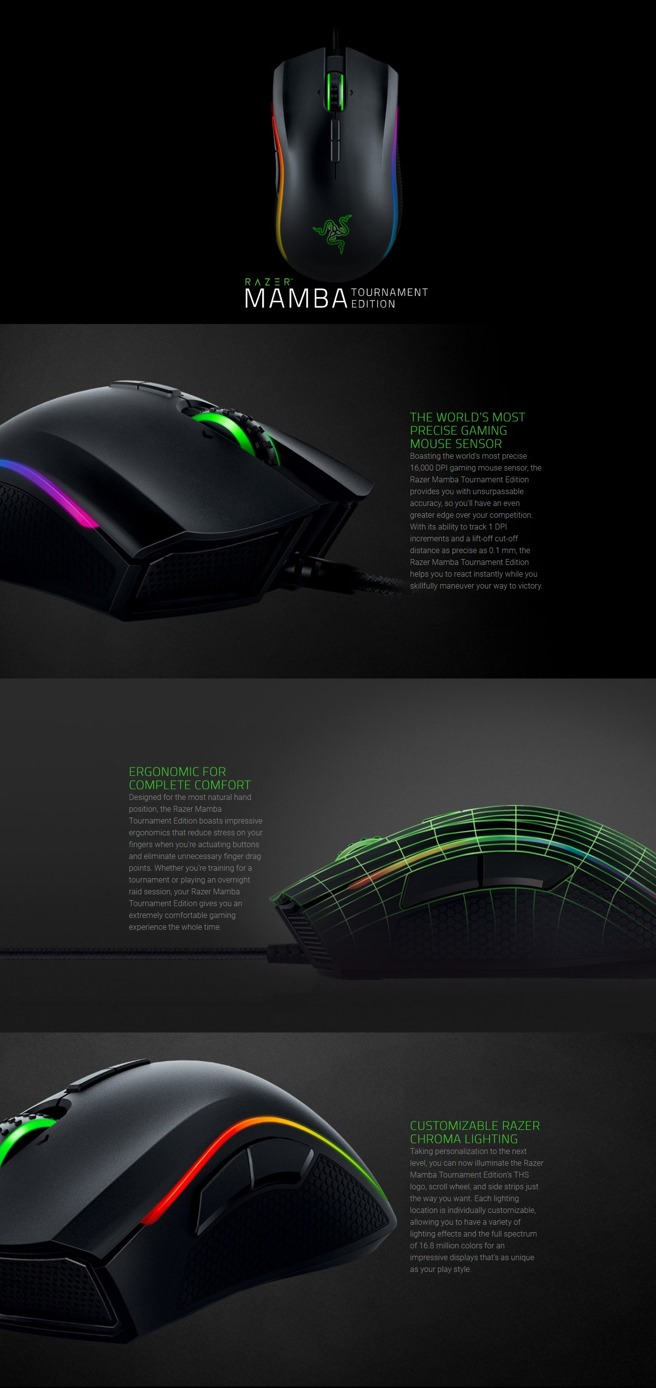 razer mamba tournament edition multi color ergonomic. Black Bedroom Furniture Sets. Home Design Ideas