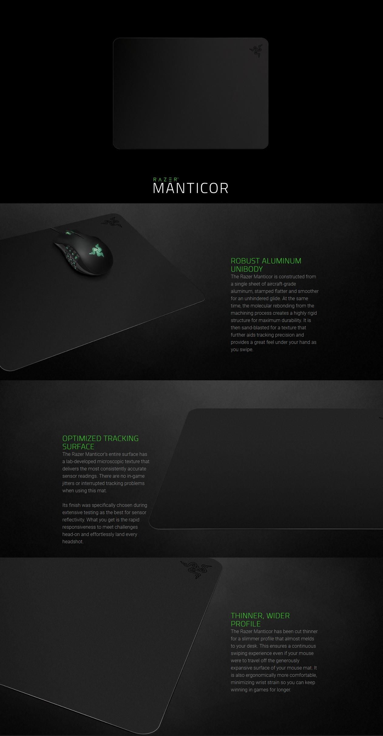 Razer Manticor Elite Aluminum Gaming Mouse Mat (RZ02-00920100-R3M1)