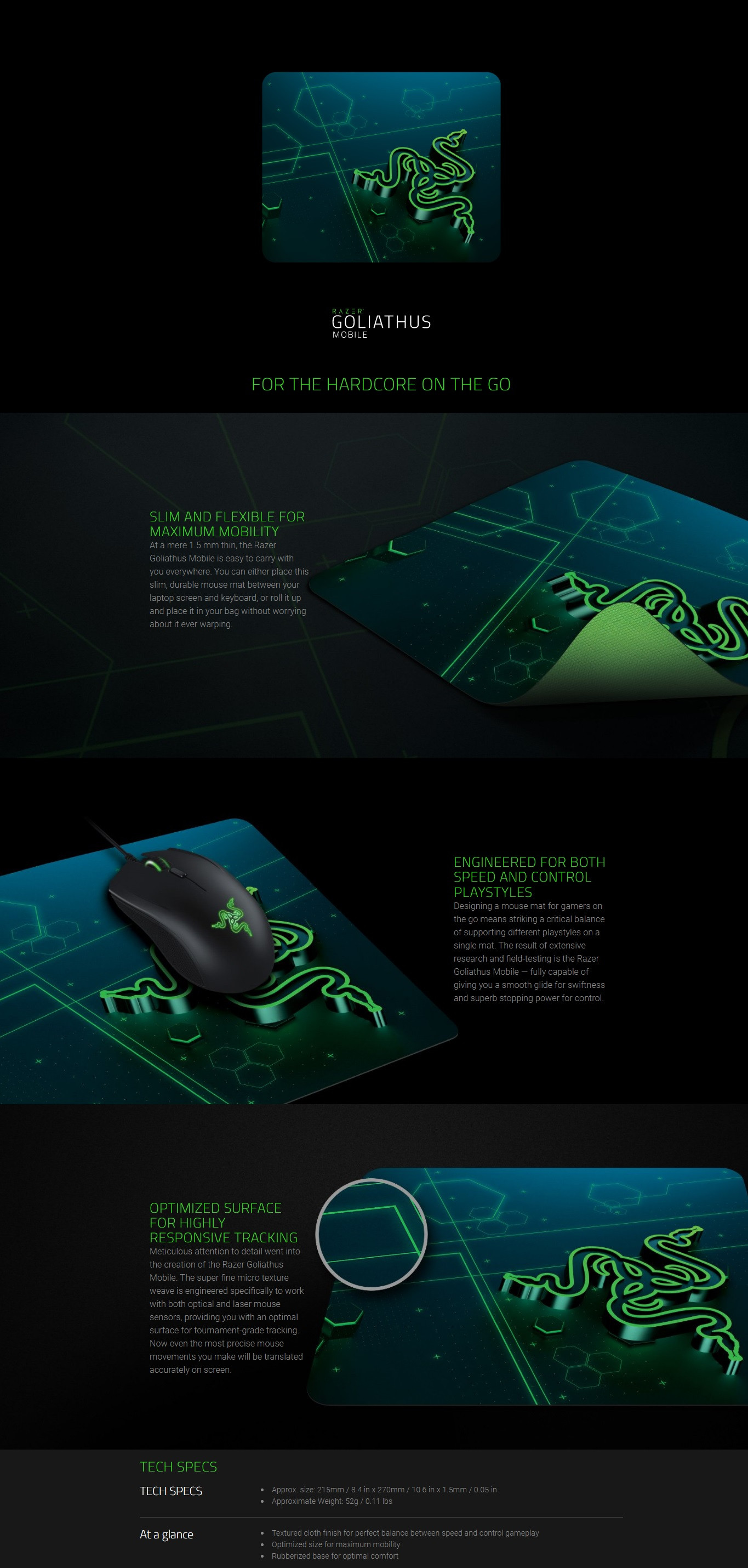 Razer Goliathus Mobile Soft Gaming Mouse Mat Small Rz02 Bloody B071 Medium Speed Pad Product Description