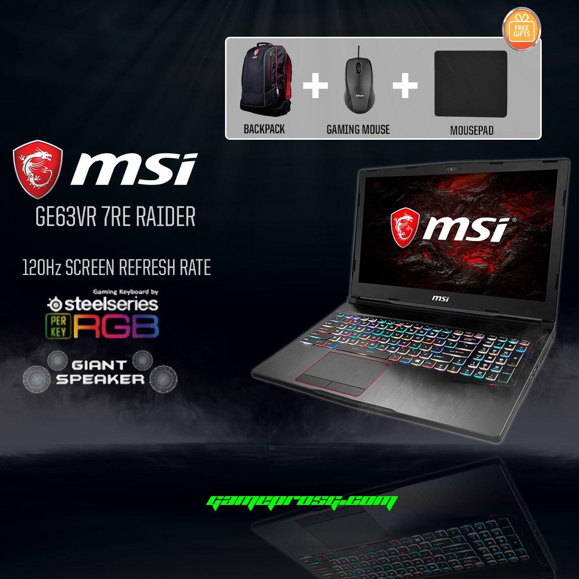 133a884d46f MSI GE63VR 7RE 016SG Raider (GTX 1060 6GB GDDR5) - DS - GamePro Shop
