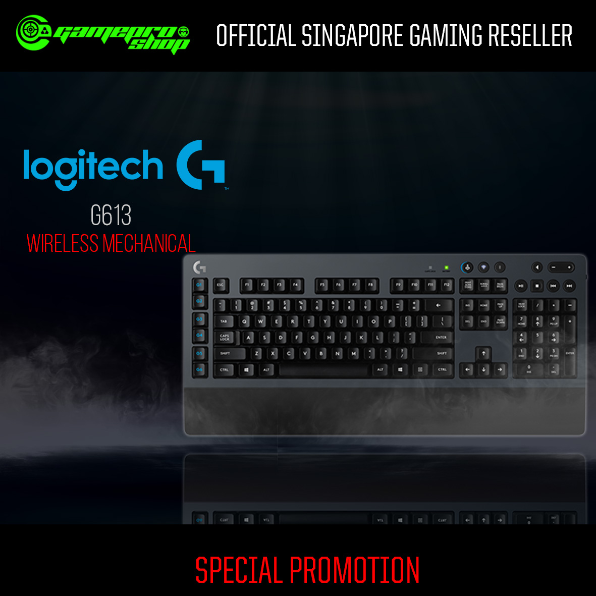 Logitech G613 (920-008402) Wireless Mechanical Gaming