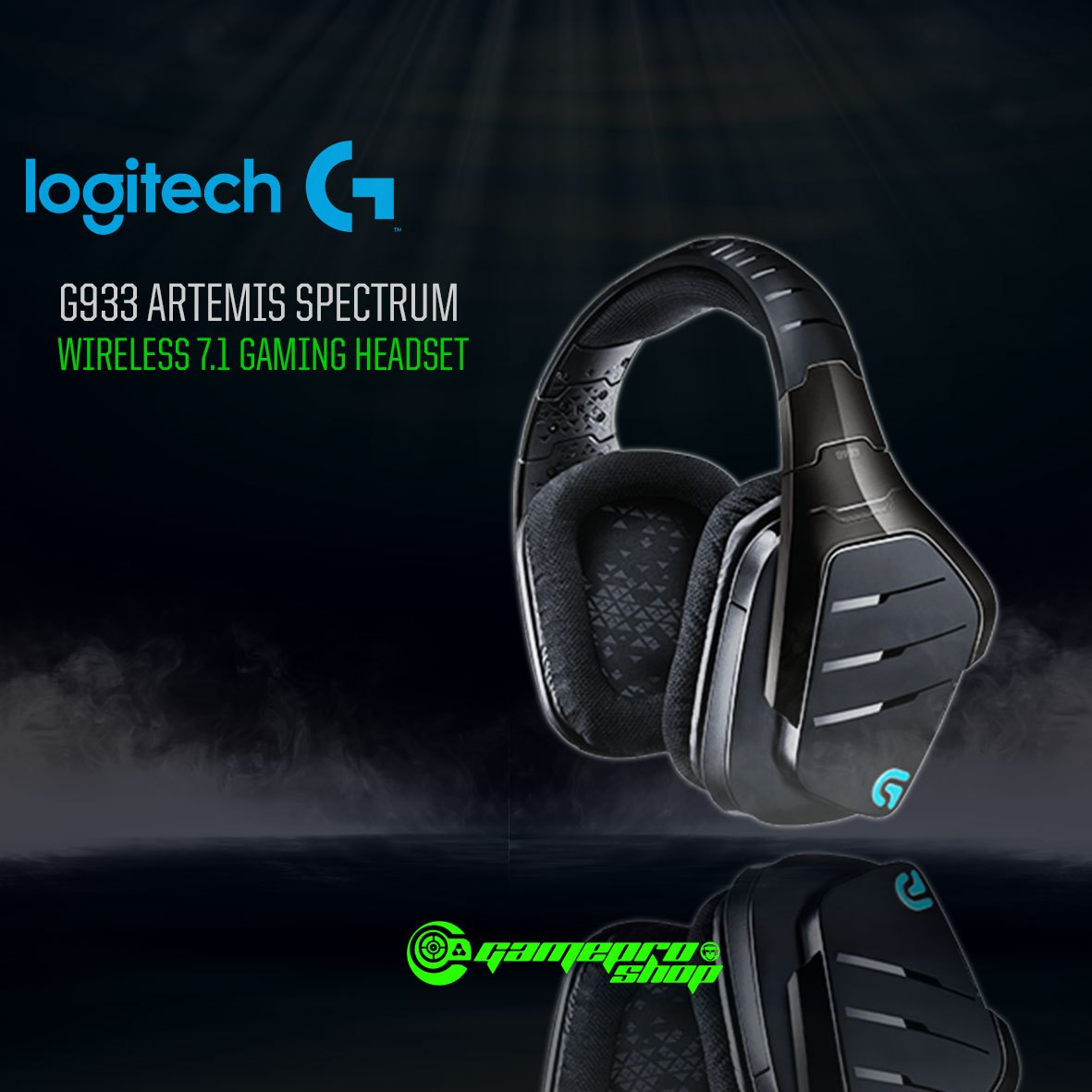 Logitech G933 (981-000600) Artemis Spectrum Wireless 7 1 Surround Sound  Gaming Headset
