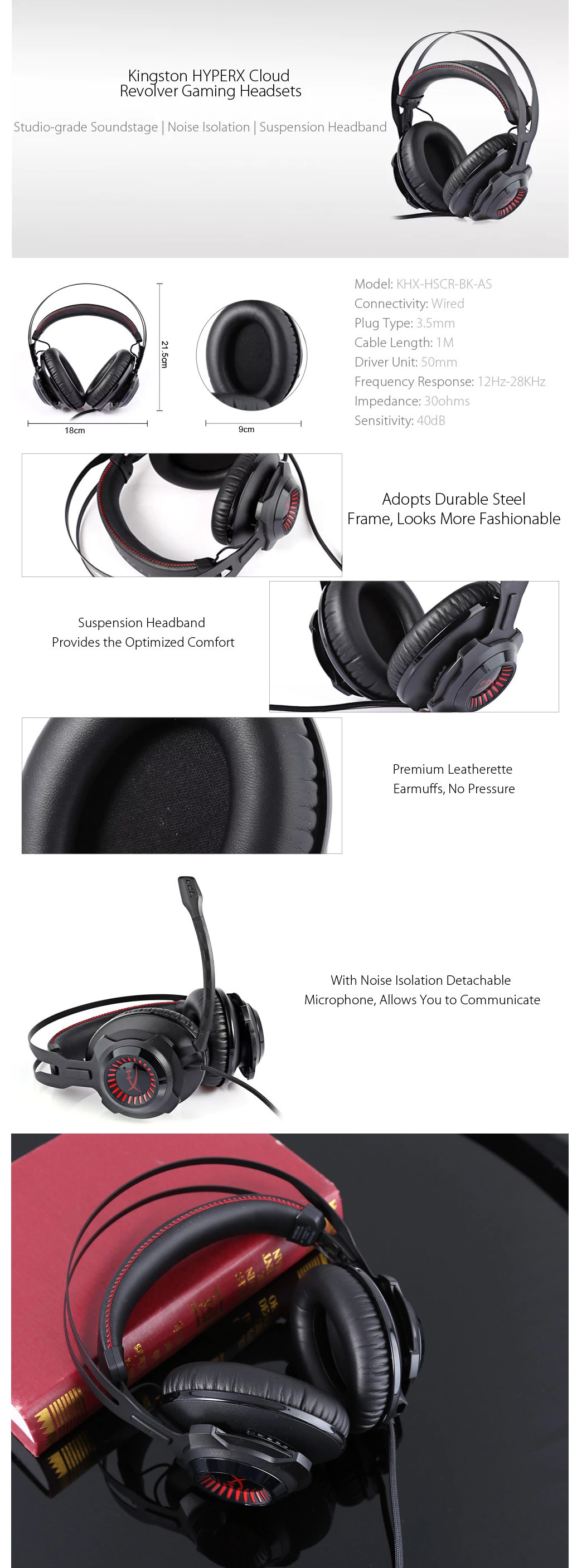 the latest ae231 df37b SKU  KHX-HSCR-BK AS Category  Gaming Headset Tag  Headset