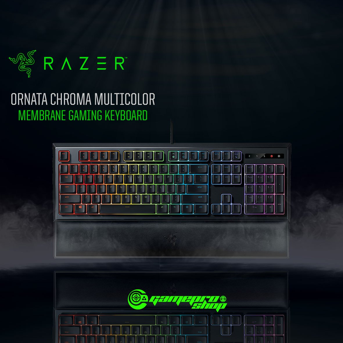Razer Ornata Chroma Multicolor Membrane Gaming Keyboard Rz03 02040100 R3m1 1y Gamepro Shop