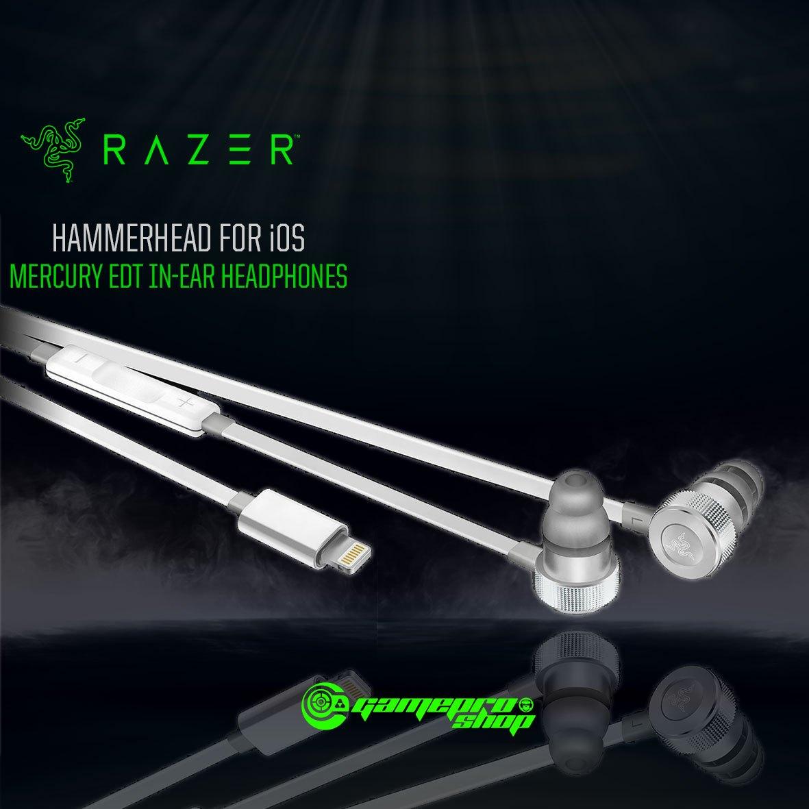 Razer Hammerhead For Ios Mercury Edition Rz04 02090200 R3m1 In Ear V2 Gaming Headset