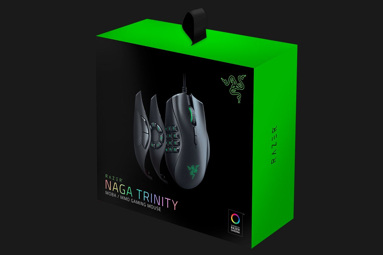 Razer Naga Trinity Multicolor MMO Gaming Mouse RZ01 02410100 R3M1