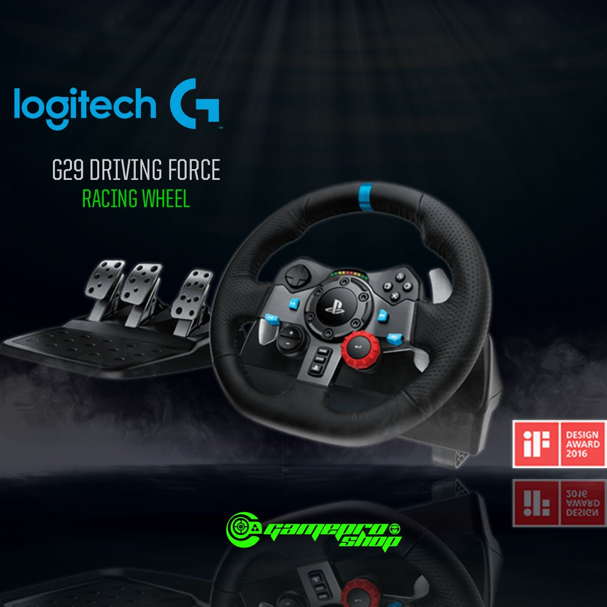 2a3bb44545e Logitech G29 Driving Force Racing Wheel (941-000139) - GamePro Shop