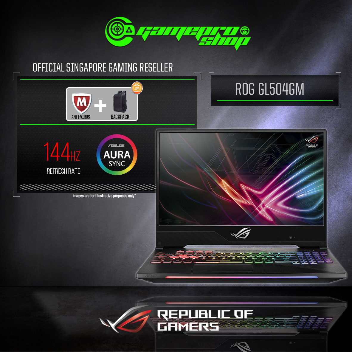 ASUS GL504GM-ES052T HERO II (GTX1060 6GB GDDR5)
