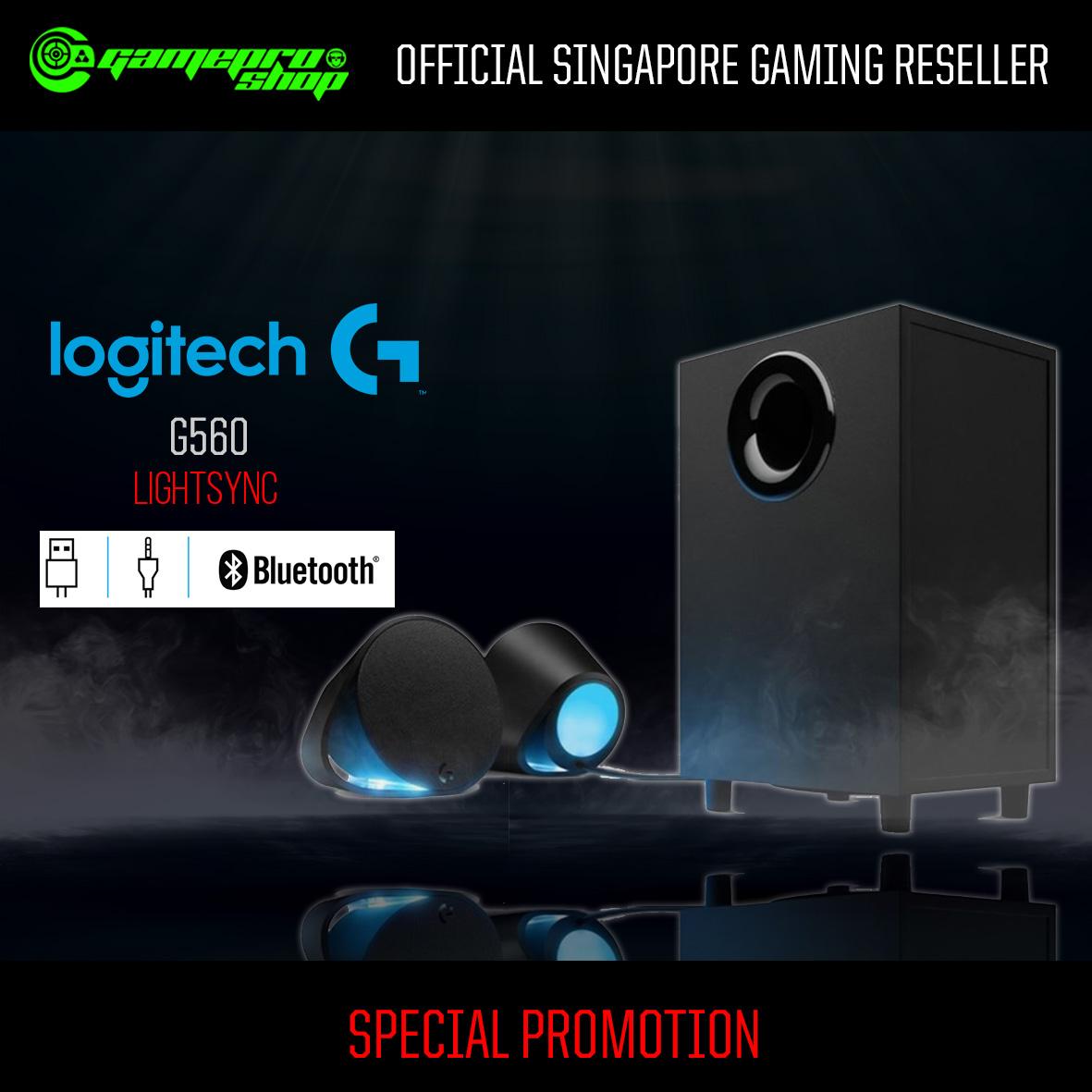 Logitech G560 LIGHTSYNC PC Gaming Speakers (980-001304)