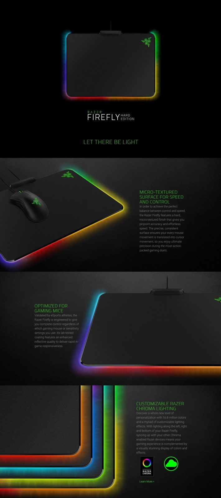 af129089003 Razer Firefly - Hard Edition Gaming Mouse Mat (RZ02-01350100-R3M1 ...