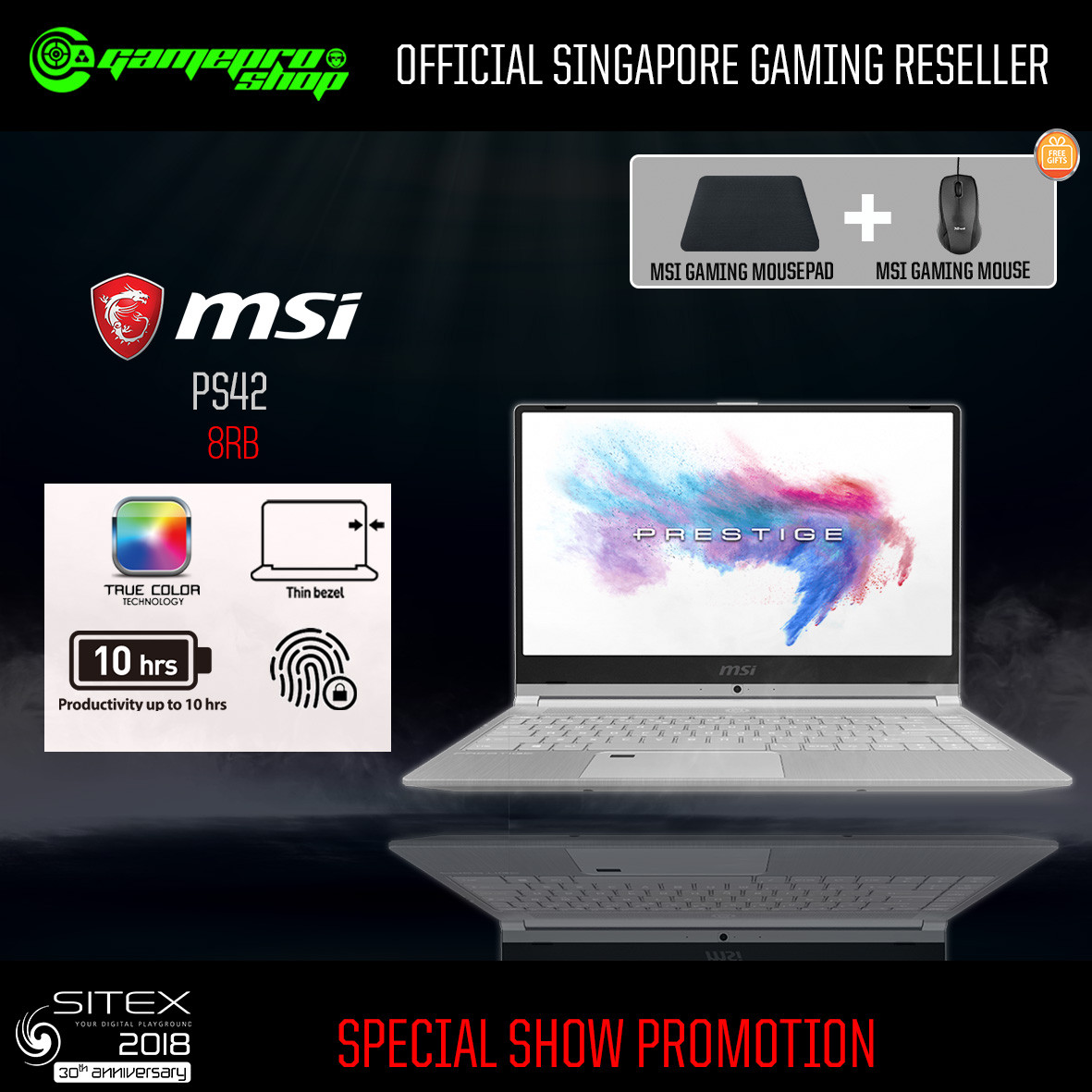 MSI PS42 8RB - 446SG 512GB SSD (Geforce® MX150 2GB GDDR5)