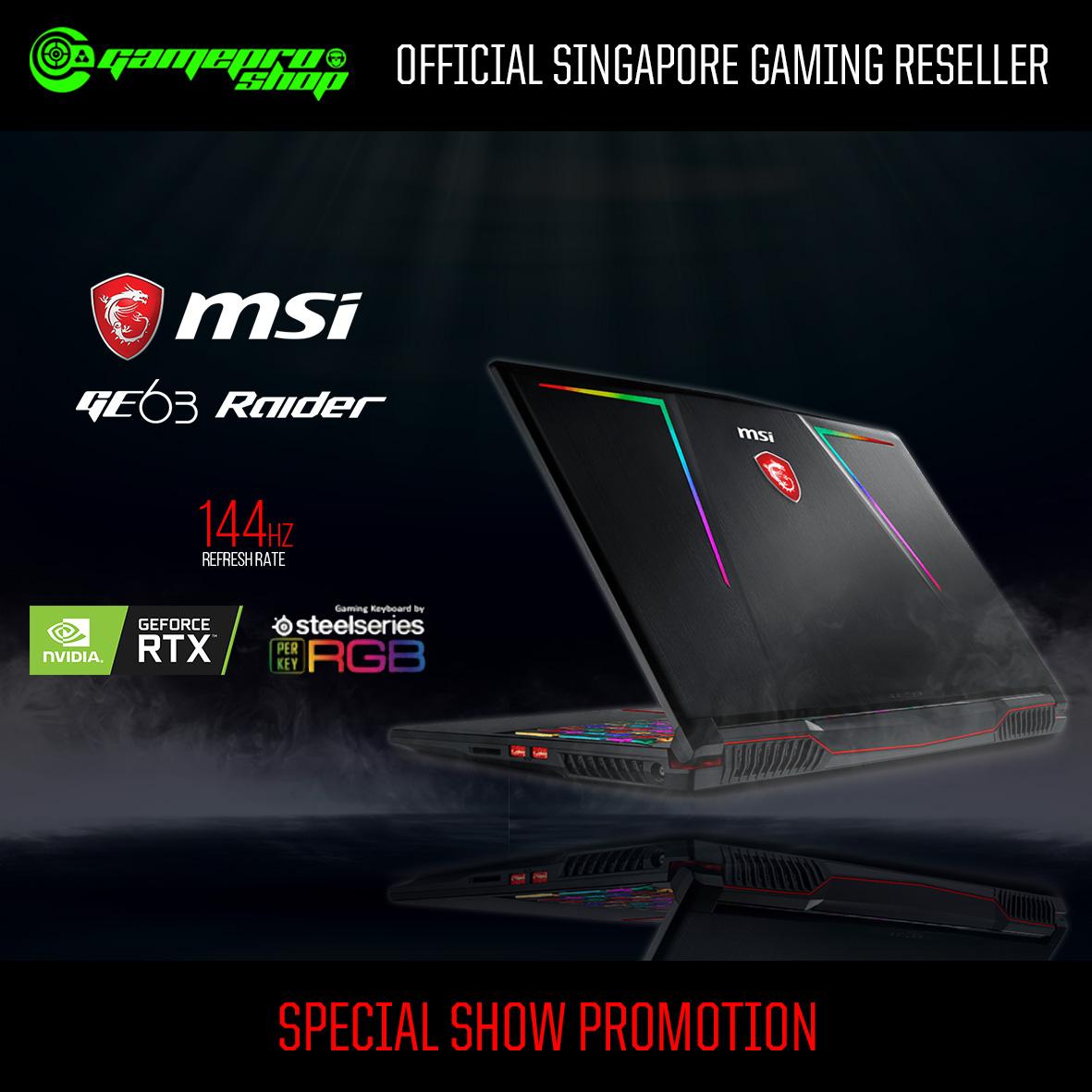 395ef25c9b9 MSI GE63 Raider RGB 8SF 253SG (RTX 2070 8GB GDDR6) - GamePro Shop