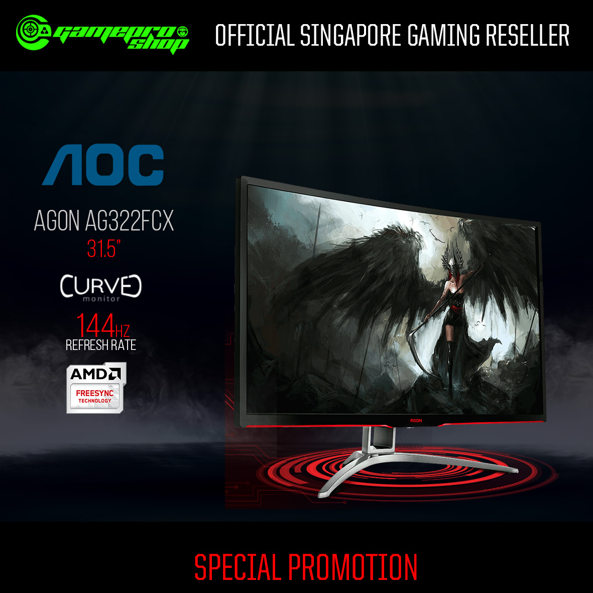 AOC Agon AG322FCX Curved Gaming Monitor (31 5
