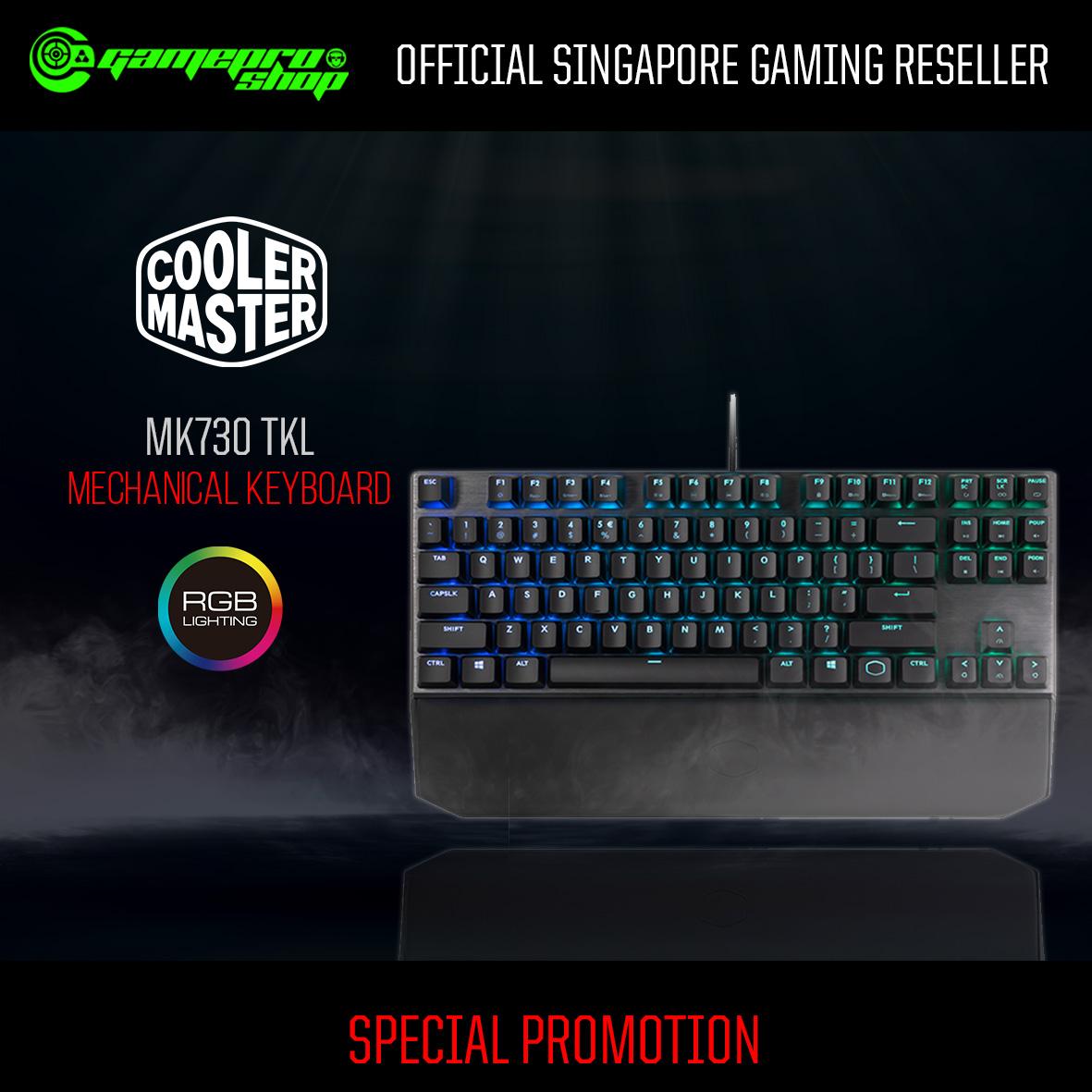 92dad045616 Cooler Master MasterKeys MK730 TKL RGB Mechanical Gaming Keyboard ...