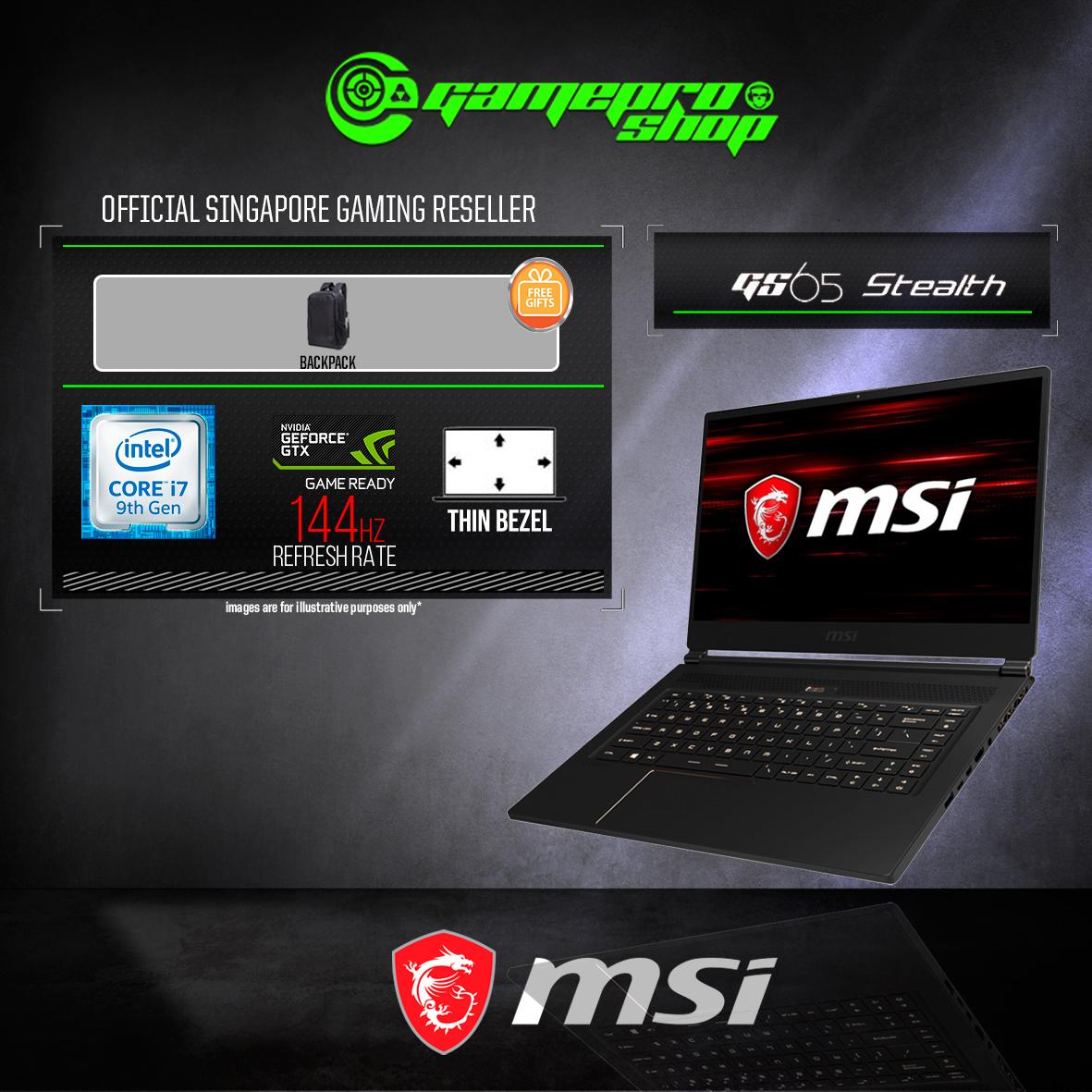 MSI GS65 Stealth 9SD (GTX 1660Ti 6GB GDDR6)