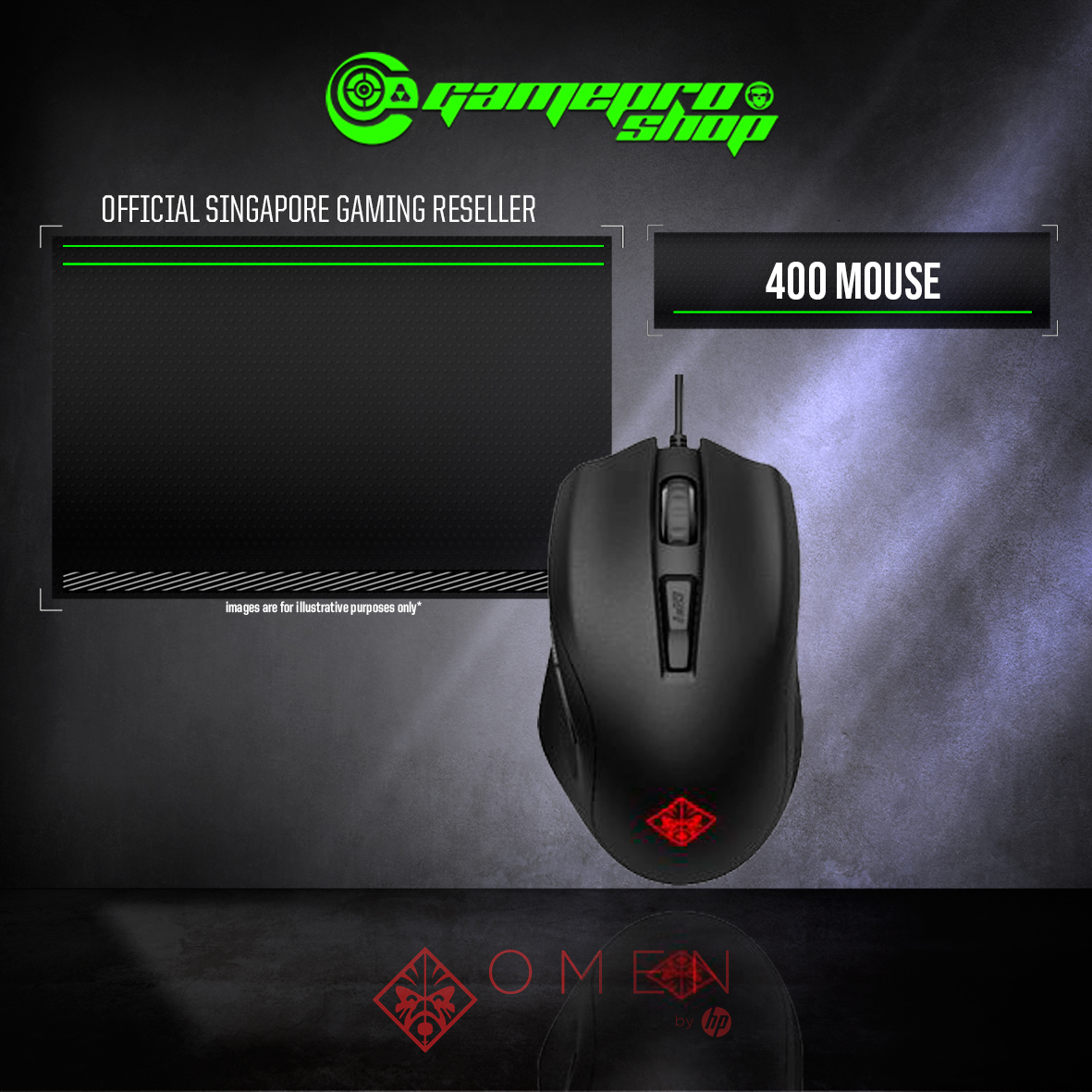 HP Omen 400 Gaming Mouse - GamePro Shop