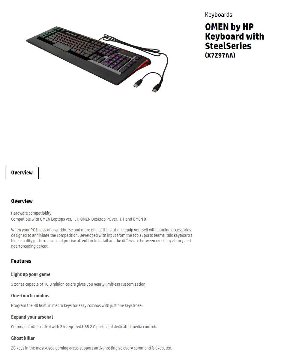 HP Omen SS Gaming Keyboard