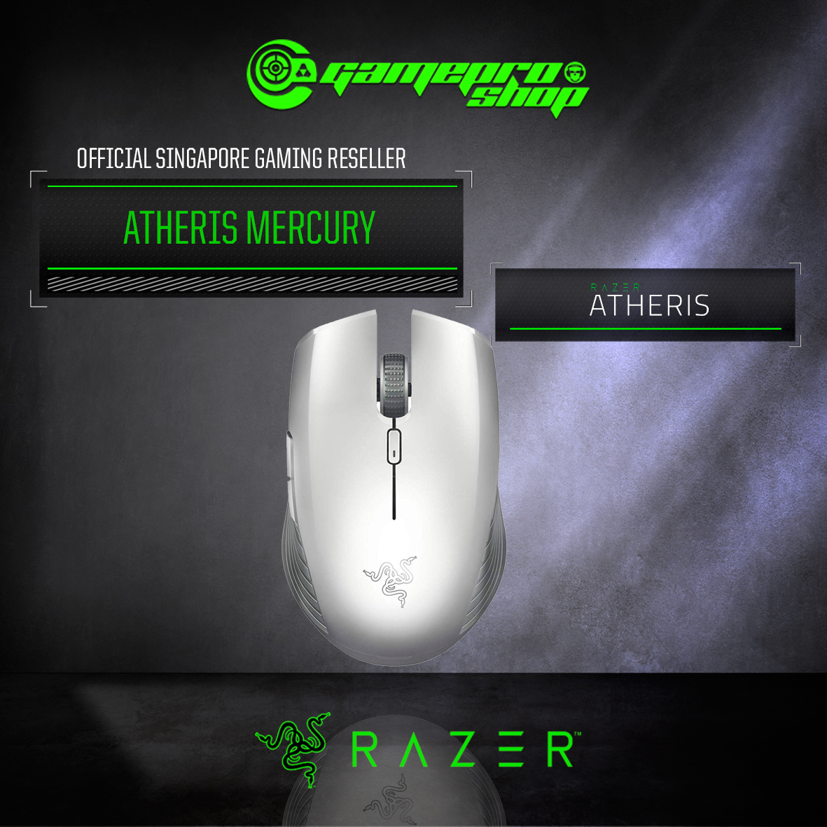 Razer Atheris - Mobile Mouse - Mercury (RZ01-02170300-R3A1)