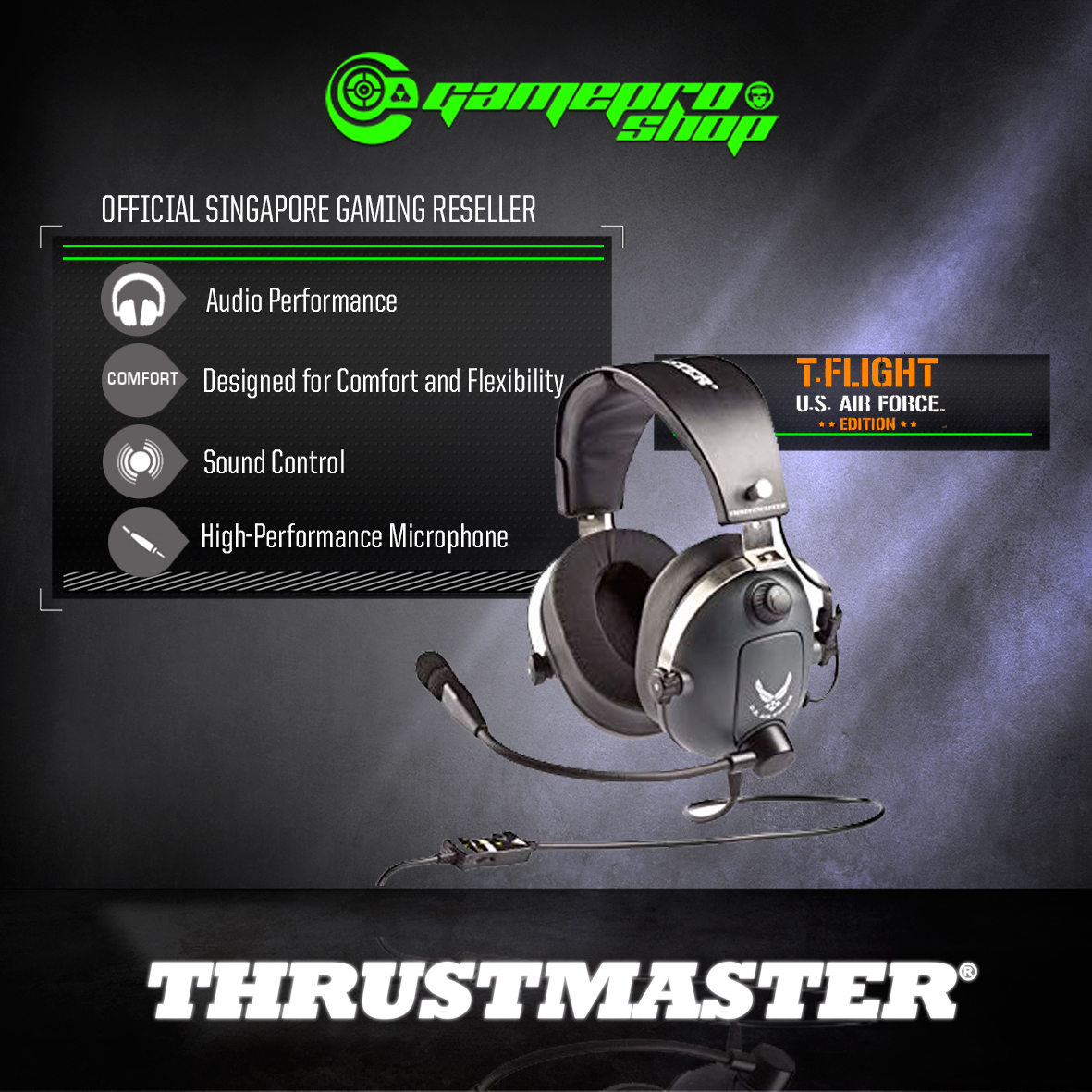 Thrustmaster T Flight U.S Air Force Edition Gaming Headset (4060104)