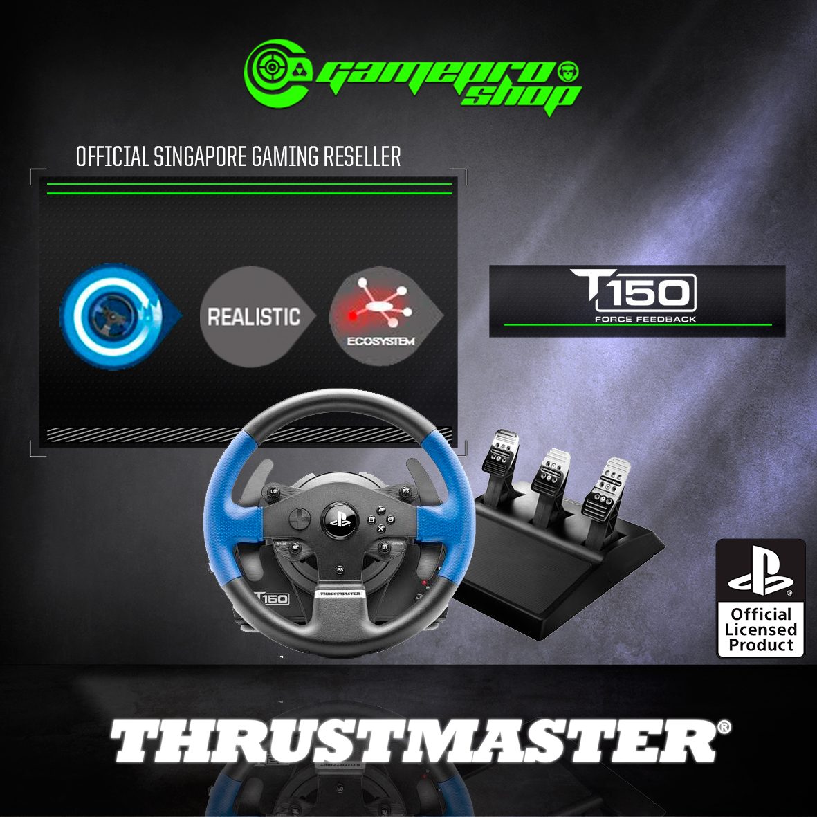 Thrustmaster T150 RS PRO Racing Wheel for PC / PS4/ PS3