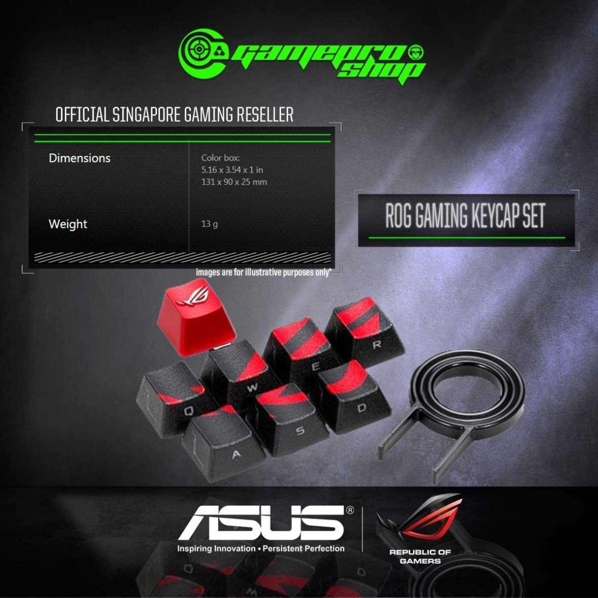 ASUS ROG Gaming Keycap Set - 90MP0100-B0UA00 (1Y ...